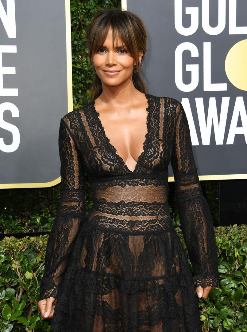 Halle Berry ai Golden Globes 2018
