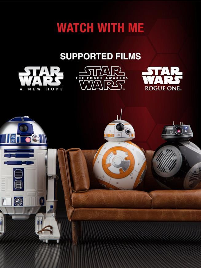 I droni di Star Wars prodotti da Sphero supportano la modalità Watch WIth Me