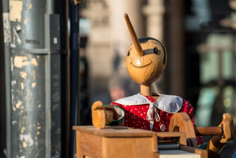 Pinocchio marionetta di legno