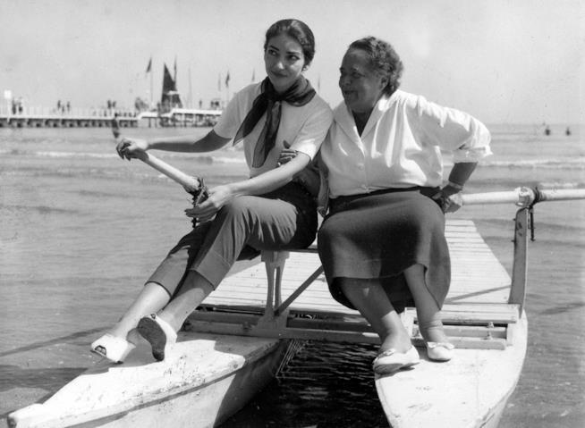 Maria Callas ed Elsa Maxwell al Festival di Venezia