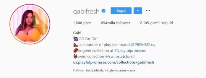 Profilo instagram Gabi