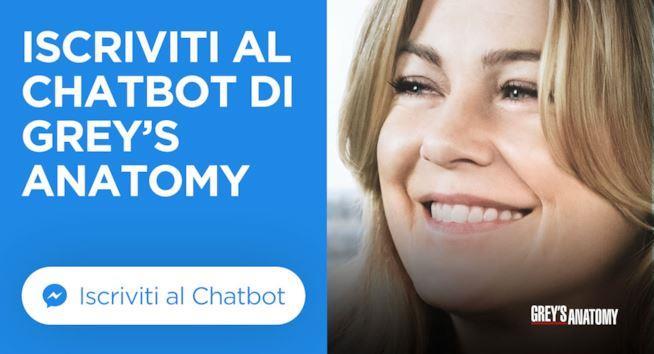 Iscriviti al chatbot di Grey's Anatomy