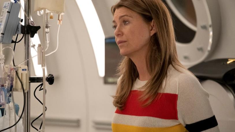 Meredith in una scena di Grey's Anatomy 15x25