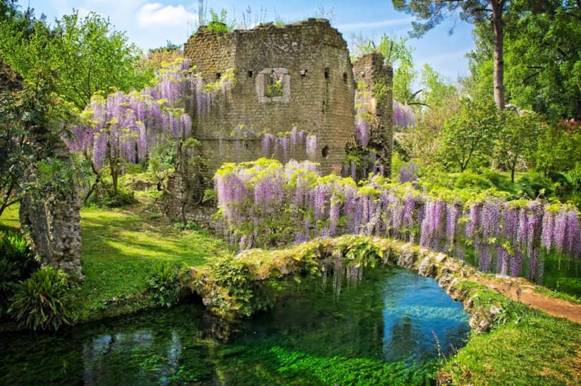Il Giardino di Ninfa di Tivoli, aperta il giorno di Ferragosto