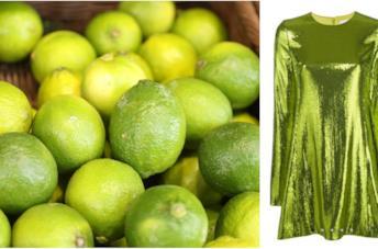 Collage tra lime e abito color lime