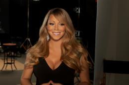 Mariah Carey in primo piano