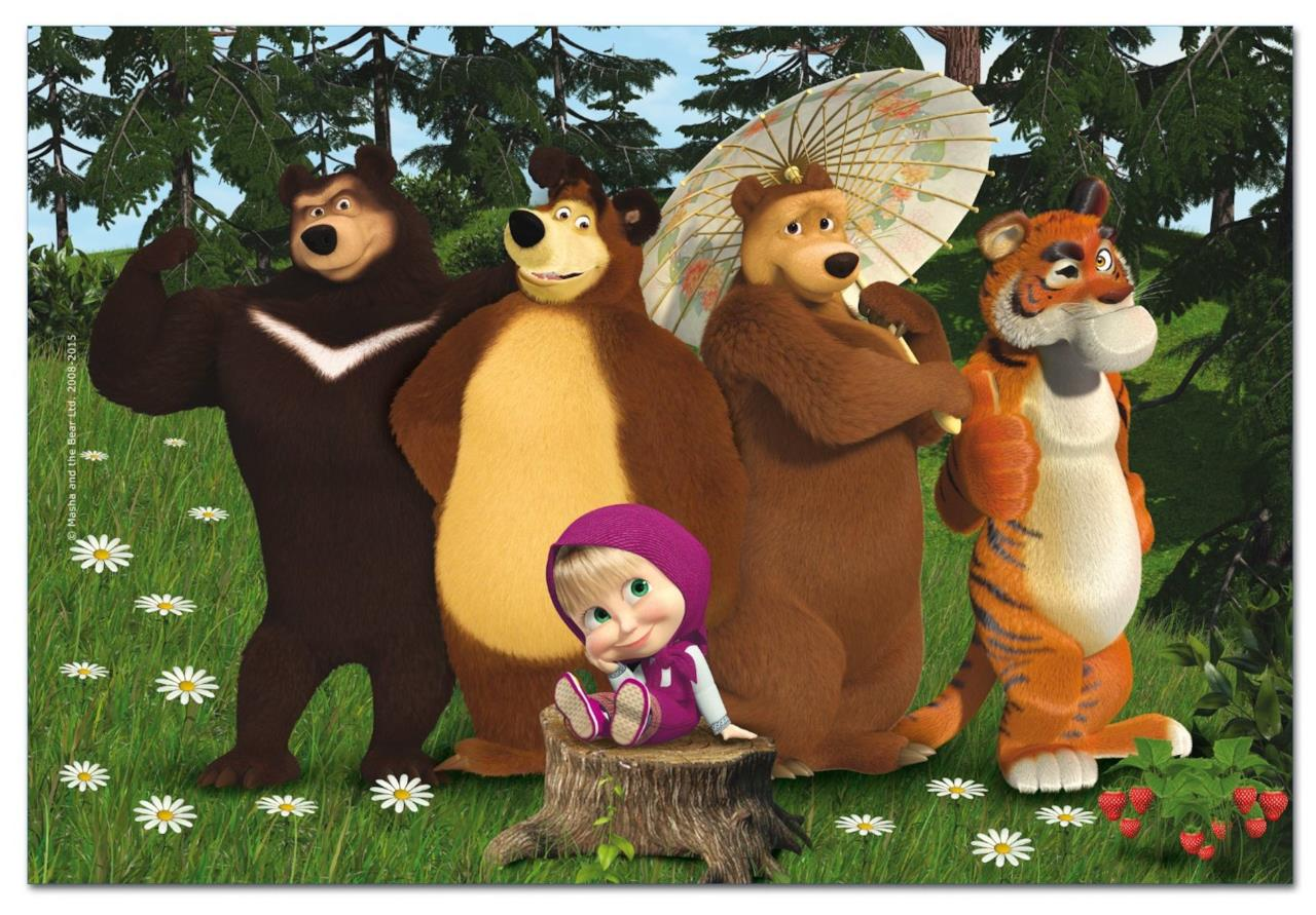 Masha e Orso con gli amici