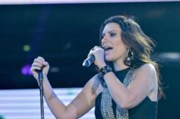 Laura Pausini durante un'esibizione.