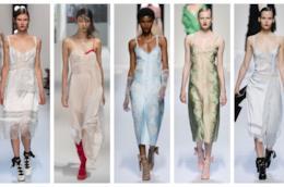 I vestiti in stile lingerie presentati alle Fashion Week 2018