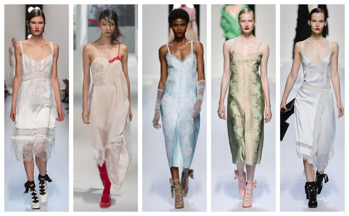 c85483f76ebf I vestiti in stile lingerie presentati alle Fashion Week 2018