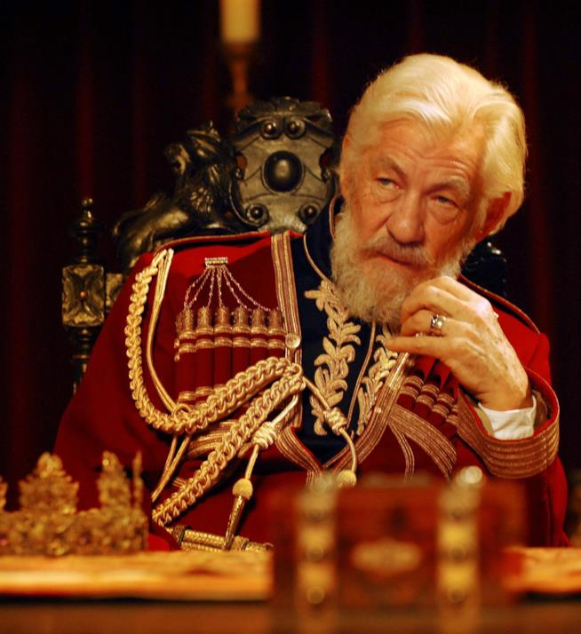 Ian McKellen interpreta King Lear nel 2007 per la RSC