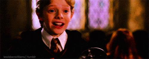 Colin Canon e Harry Potter in una scena di Harry Potter e la camera dei segreti
