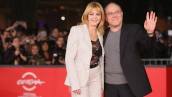 L'attrice Claudia Gerini insieme al regista Carlo Verdone
