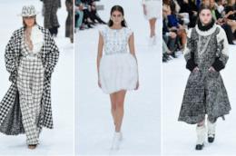 Tre foto della sfilata Chanel