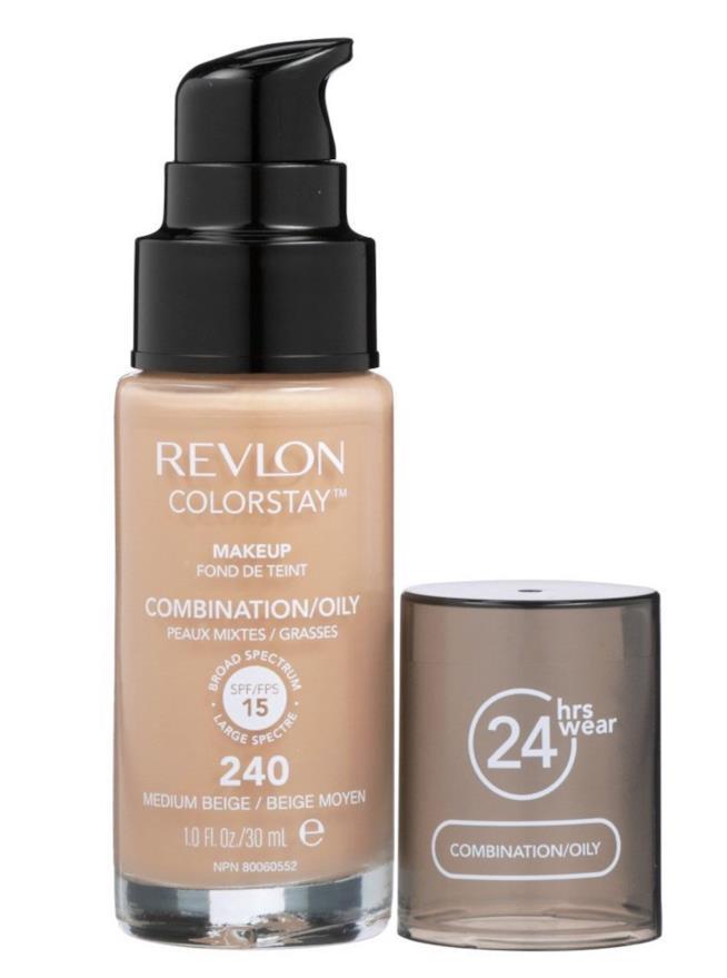Fondotinta Colorstay di Revlon per pelli miste e grasse