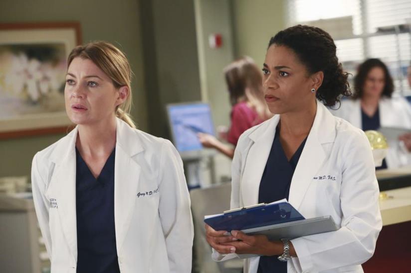 Meredith e Maggie in una scena di Grey's Anatomy