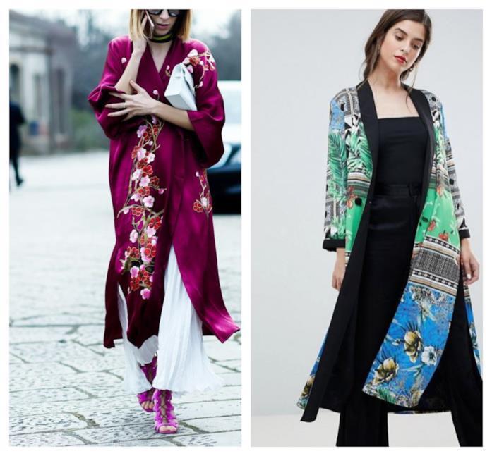 Outfit elegante con il kimono di moda P/E 2018