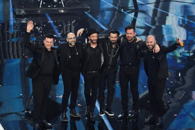 I Negramaro sul palco di Sanremo.