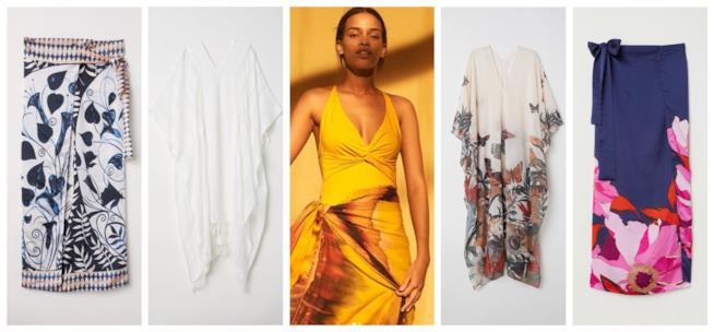 Con la stampa floreale, i caftani e sarong di tendenza per l'estate 2018