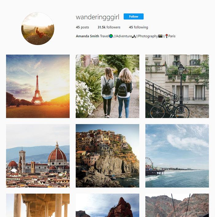 Un account falso su Instagram