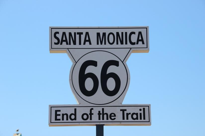 La fine della Route 66 a Santa Monica