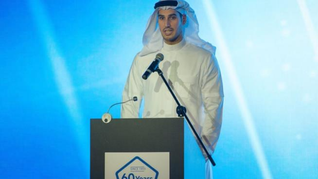 Hassan Jameel durante una conferenza stampa