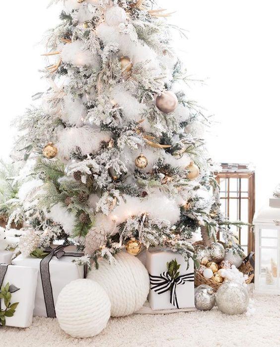 Albero Di Natale Argento E Bianco.100 Idee E Immagini Per Realizzare L Albero Di Natale