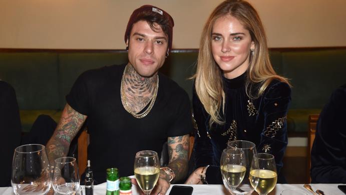 Fedez e Chiara Ferragni a tavola