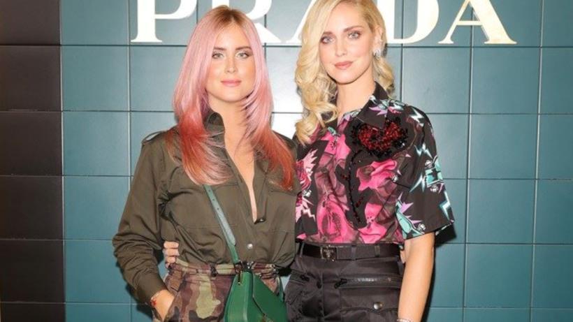 Valentina e Chiara Ferragni alla sfilata di Prada