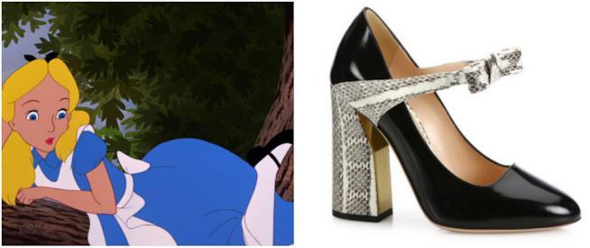 Alice nel Paese delle Meraviglie e le scarpe di Gucci