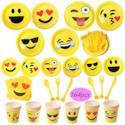 Materiale per feste con motivo emoji