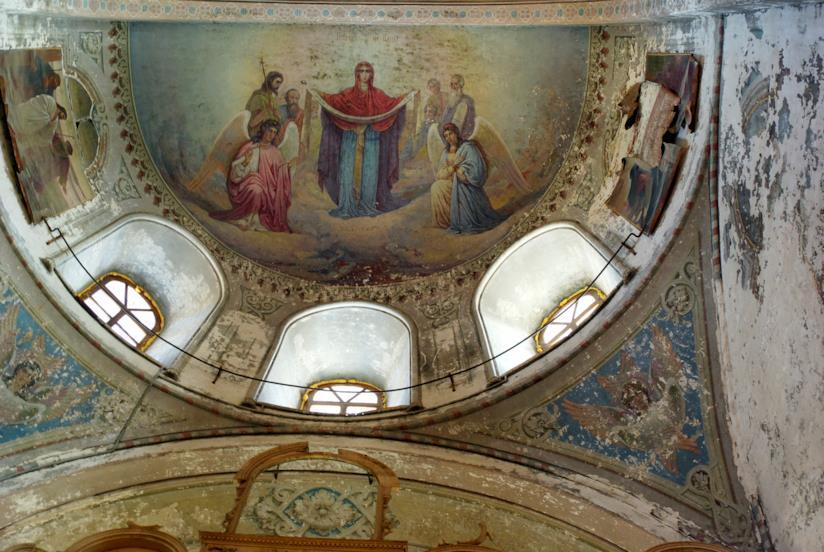 Uno dei meravigliosi affreschi della Cattedrale dell'Assunzione