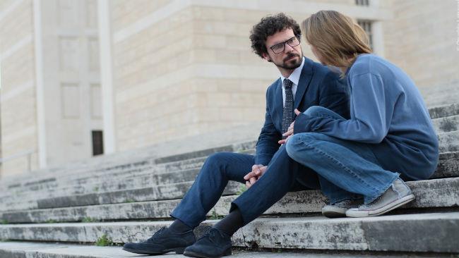 Francesco Montanari e Antonia Liskova nel corto La notte prima
