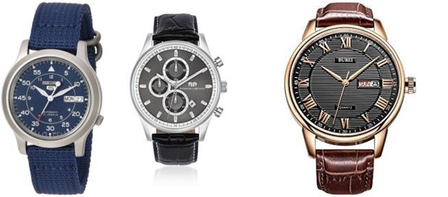 tre modelli di orologi da uomo