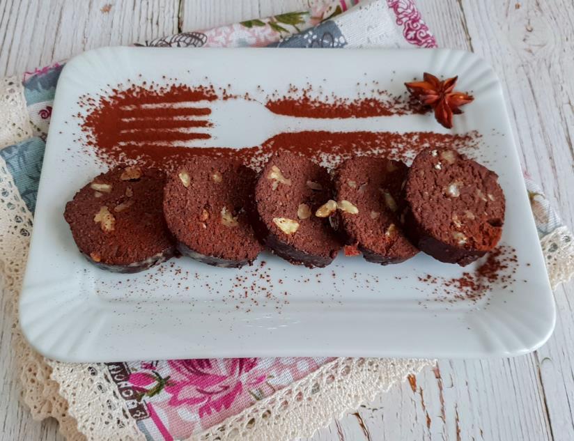Rondelle di dolce al cacao