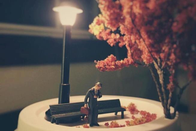 Una delle scene in miniatura di Derrick Lin