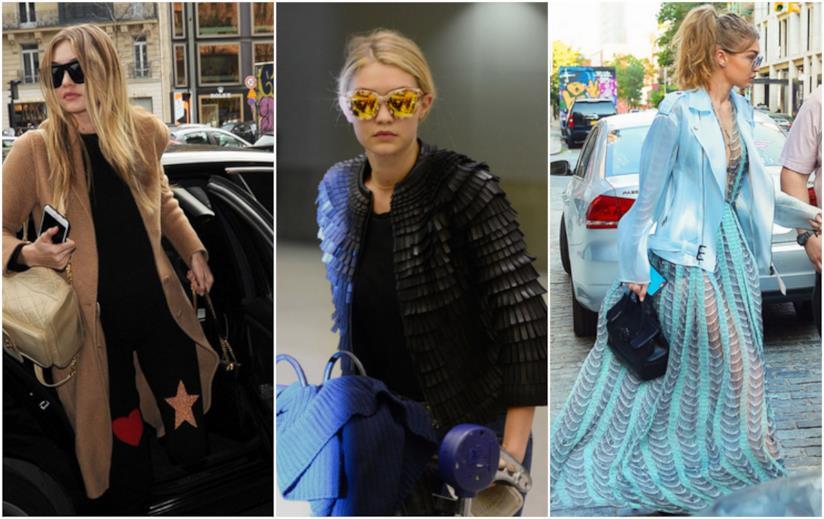 Gigi Hadid, i look all'aeroporto