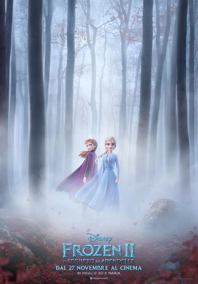 La locandina ufficiale di Frozen 2 - Il segreto di Arendelle