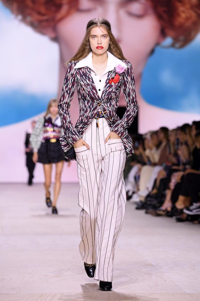 Pantaloni a righe Louis Vuitton