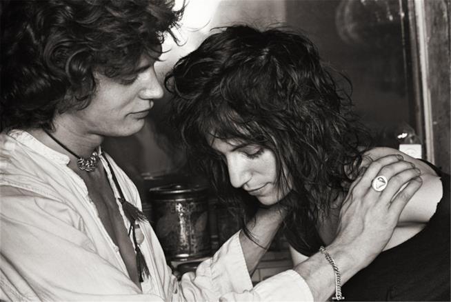 Patti e Robert in uno scatto degli anni '70