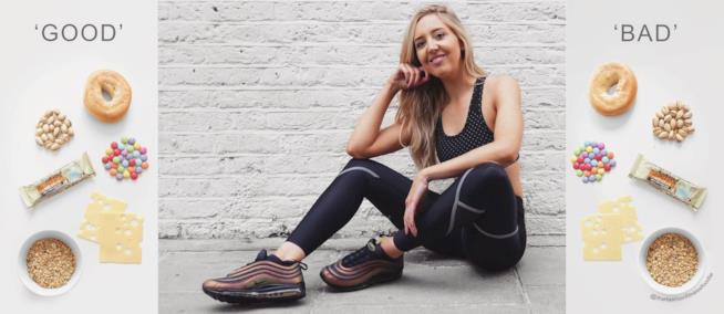 La fitness blogger Lucy Mountain