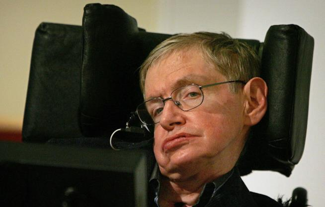 Stephen Hawking in primo piano