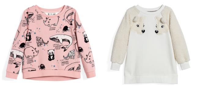 Morbide felpe per le bambine di moda per l'autunno 2018