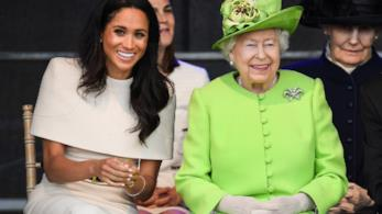 Meghan Markle e la Regina Elisabetta durante il loro primo viaggio da sole