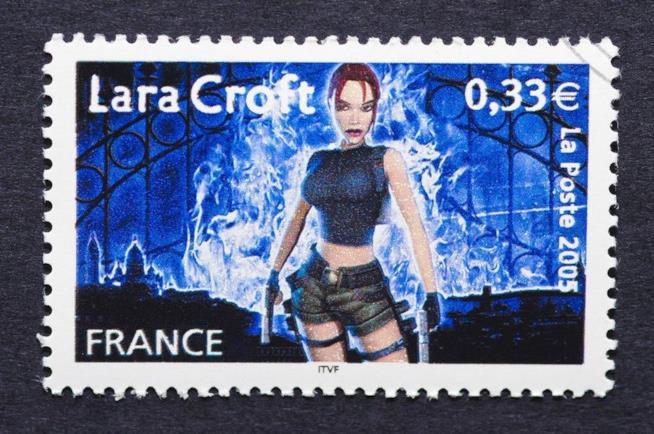 In Francia è stato emesso un francobollo con Lara Croft