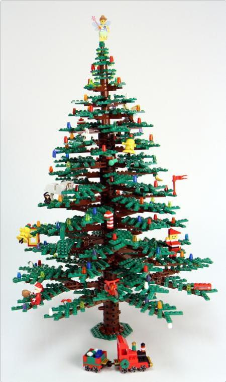 Albero di Natale realizzato con mattoncini lego