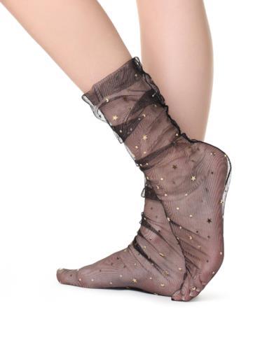 Calzini corti con glitter