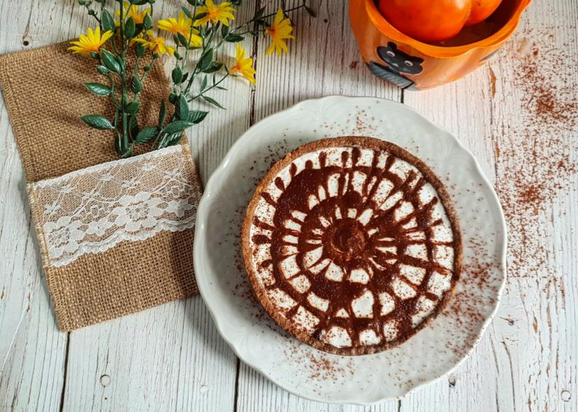 Dolce con topping al cacao