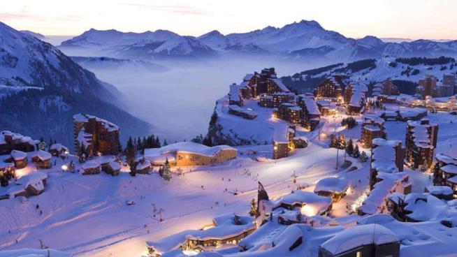 Grenoble, Les 2 Alpes, Francia panorama