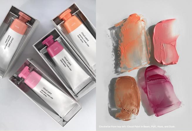 Cloud Paint, il blush in crema-gel di Glossier disponibili in 4 colori